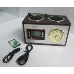 Portable Mini Speaker Wooden Speaker with FM Radio (MS-87