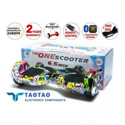 "ГИРОСКУТЕР 6.5"" STICKER BOMB THEONESCOOTER / BLUETOOTH / ПУЛЬТ / СУМКА / TAOTAO / САМОБАЛАНСИРОВКА / HOVERBOARD OSS-3821"