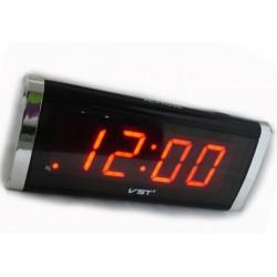 Настольные часы 730-1 LED-дисплей, будильник, мягкое красное свечение