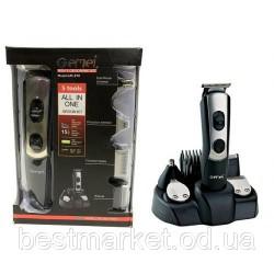 Машинка для стрижки волос 5в1 Gemei GM-590
