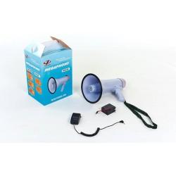 Громкоговоритель складной HW-20B: пластик, d-19,5см, l-32,3см, 30W + запись 10 секунд + аккумулятор + микрофон