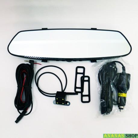 """Сенсорное зеркало - видеорегистратор DVR L1002C Full HD 7"""" с камерой заднего вида."""