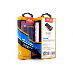 Автомобильная зарядка LDNIO DL-C22I + кабель Lightning