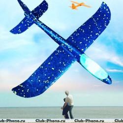 Самолет светящийся / планер с подсветкой / светодиодный самолет ОПТ