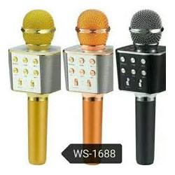 Микрофон-Караоке Bluetooth WSTER WS-1688 Gold