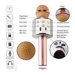 Портативный беспроводной блютуз микрофон WS-858 + караоке