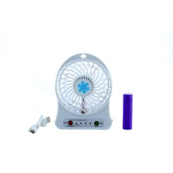 Мини вентилятор mini fan XSFS-01 с аккумулятором 18650 White