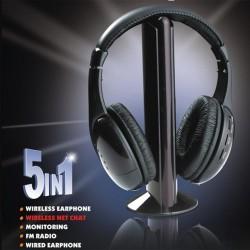 Бездротові навушники 5 в 1 - це унікальні винахід, працюють за принципом радіопередачі
