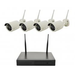 Рег.+ Камеры DVR KIT CAD 8004 WiFi 4ch набор на 4 камеры, Комплект видеонаблюдения, Аналоговое видеонаблюдение