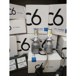 Светодиодные LED лампы H4 H1 H7 головной свет авто