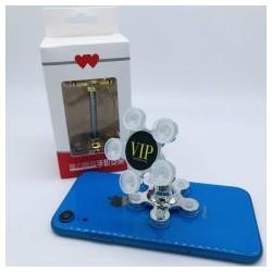Держатель для телефона «Ромашка» на суперприсосках на телефон/планшет серебро
