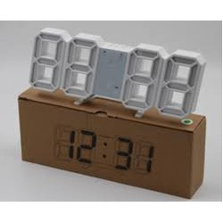 Часы с будильником и градусником настольные LY 1089 white