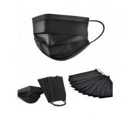 Черная защитная маска | Медицинская черная маска – упаковка 50 шт.