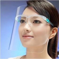 Захисний екран щиток для обличчя прозорий пластик на оправі зі складними дужками / МІНІМАЛЬНЕ ЗАМОВЛЕННЯ