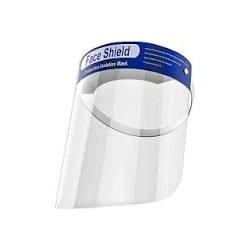 Защитный щиток экран для лица прозрачный пластик 33х22см Face Shield