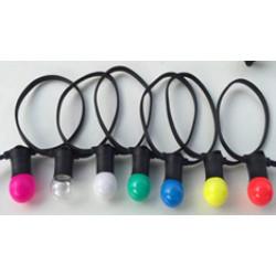 Белт-лайт гибкий черный резиновый проводящий шлейф двухжильный 10