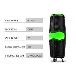 Акустична портативна колонка Wesyman 80Вт 8 дюймів 89х37х35см USB/SD/FM/BT/MIC Q86