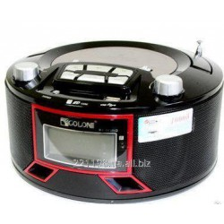 GOLON RX663RQ RED BOOMBOX RADIO RECEIVER & - BLACK